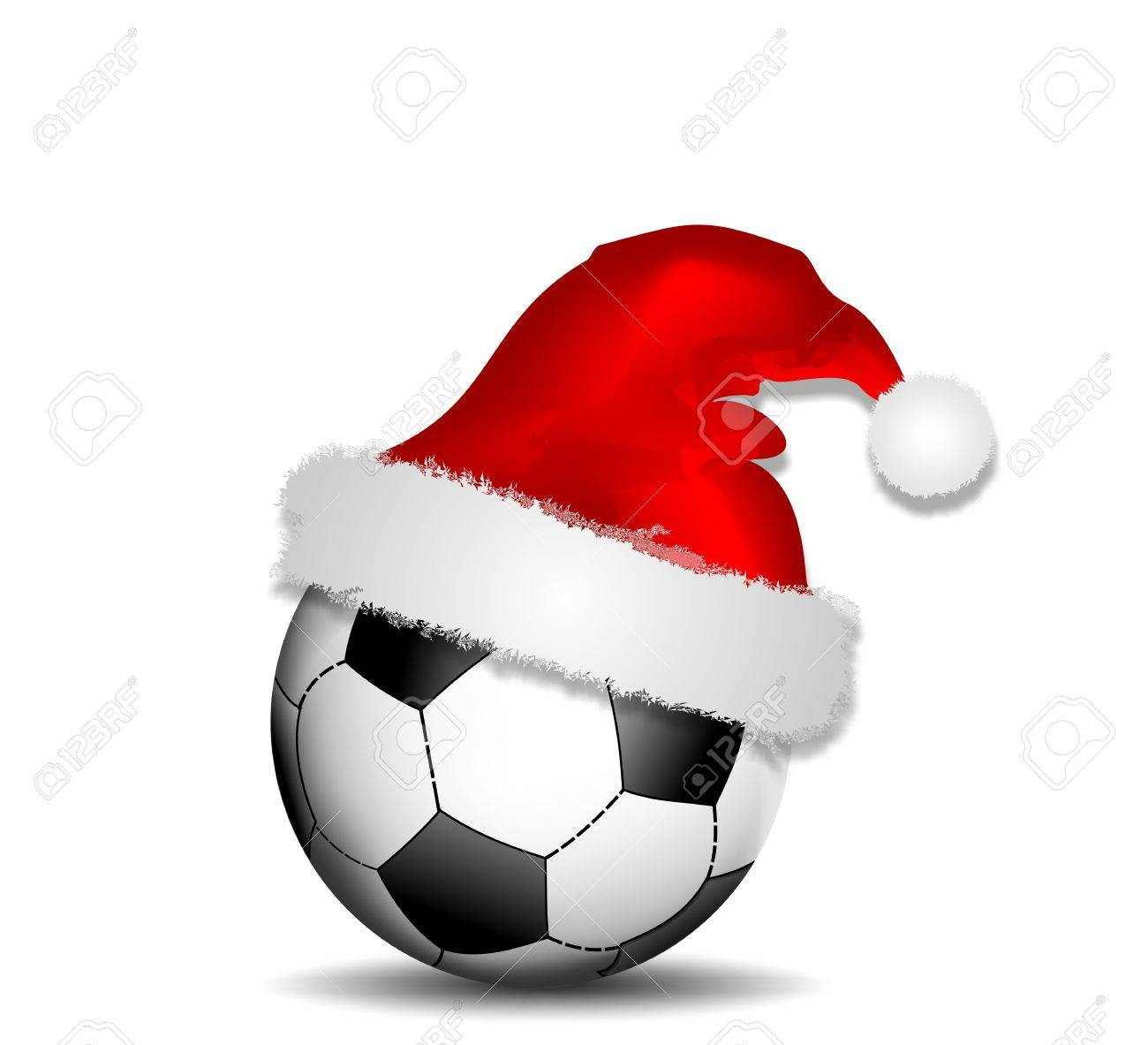 ball with christmas hat Stock Vector - 10943752