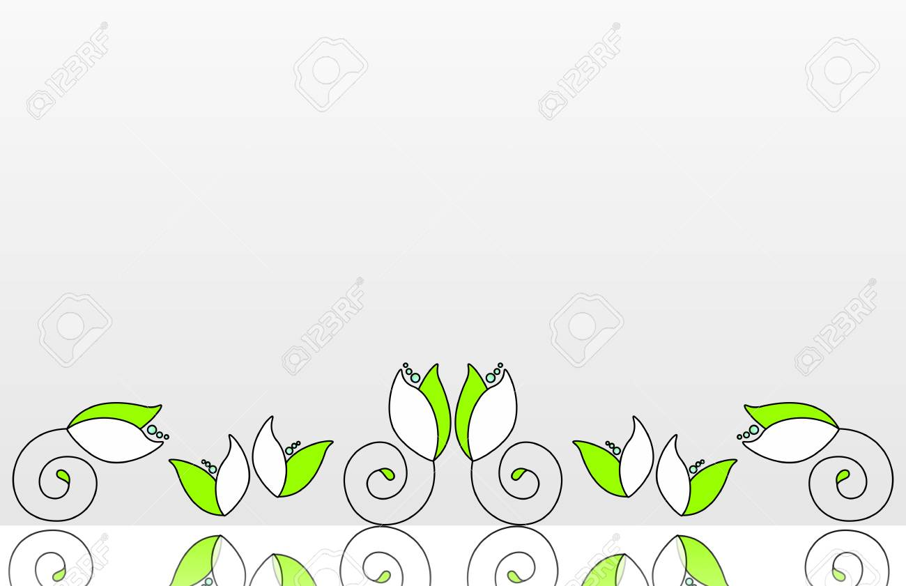 Abstract frame with flowers Stock Vector - 12081527