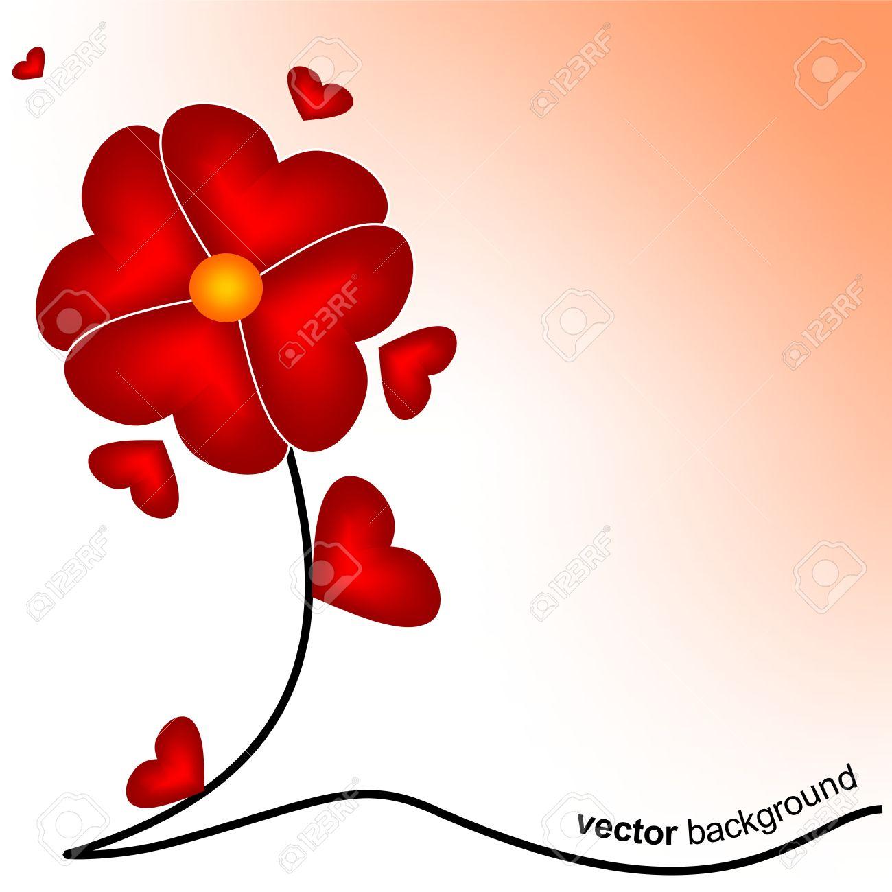 Flower of love Stock Vector - 12178608