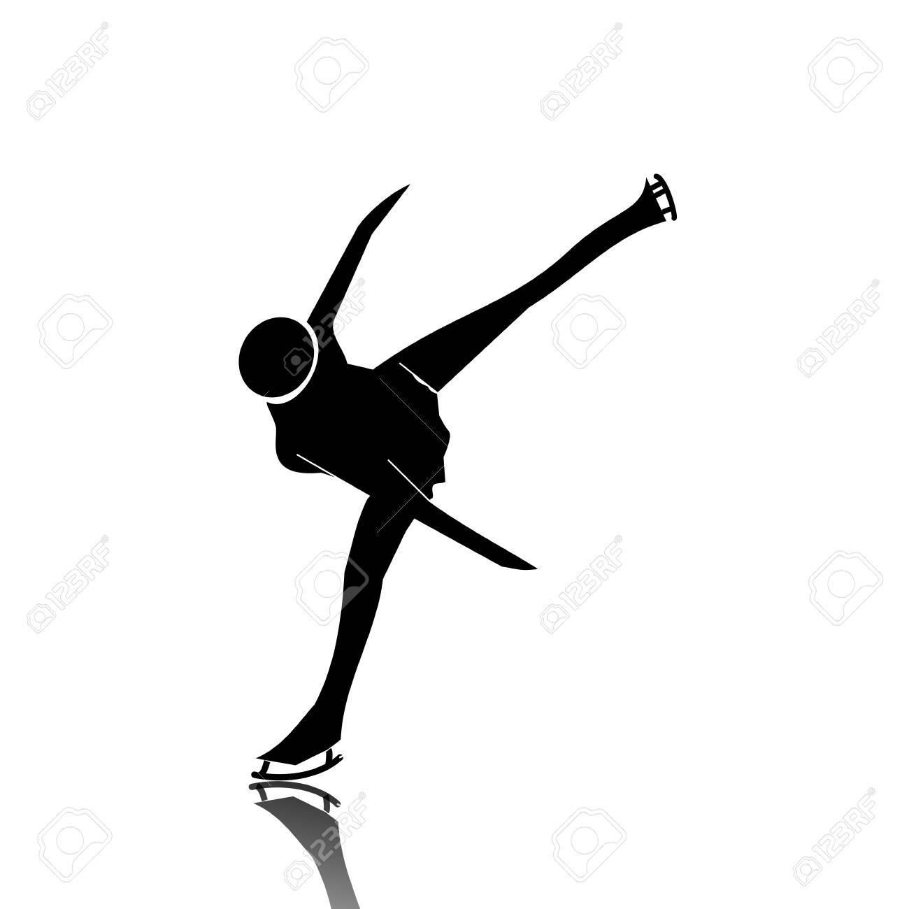 Ice skater Stock Vector - 12467465