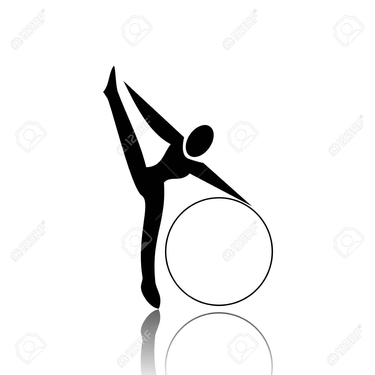 Rhythmic Gymnastics Stock Vector - 12467457
