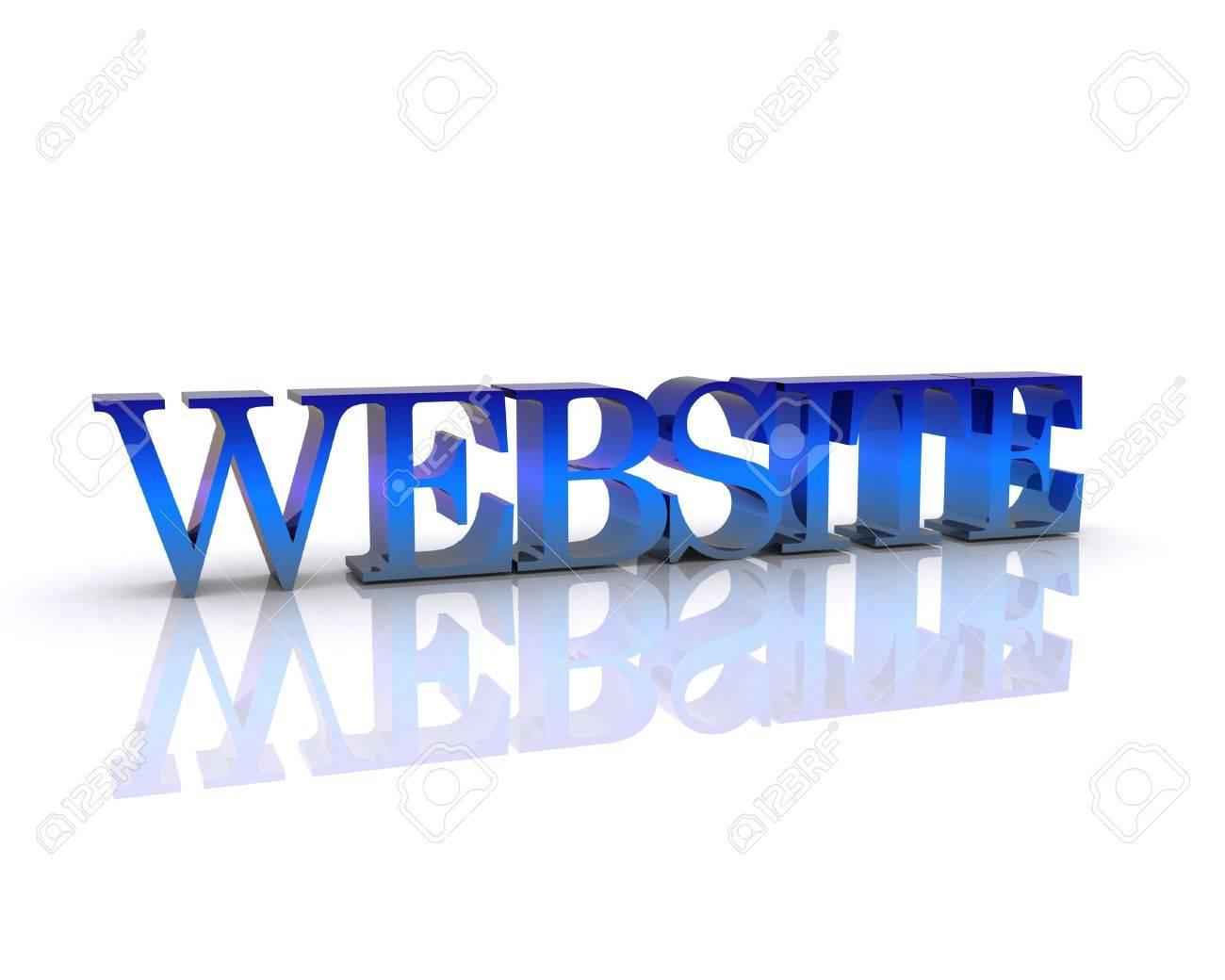 Website - 3D Stock Photo - 12467541