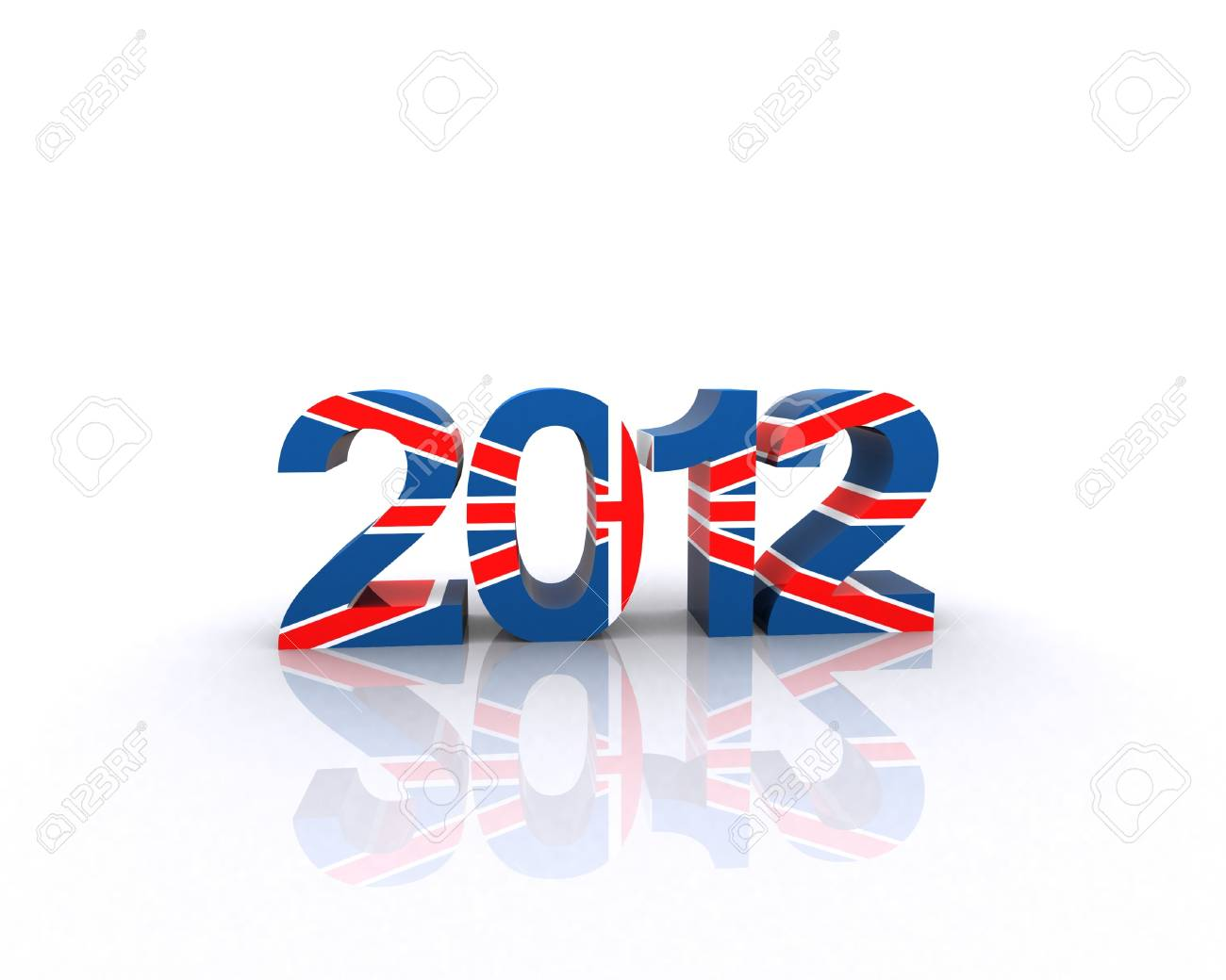2012 with the texture of the English flag Stock Photo - 12467557