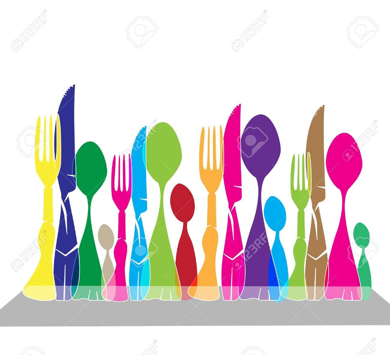 At Table Stock Vector - 13694990