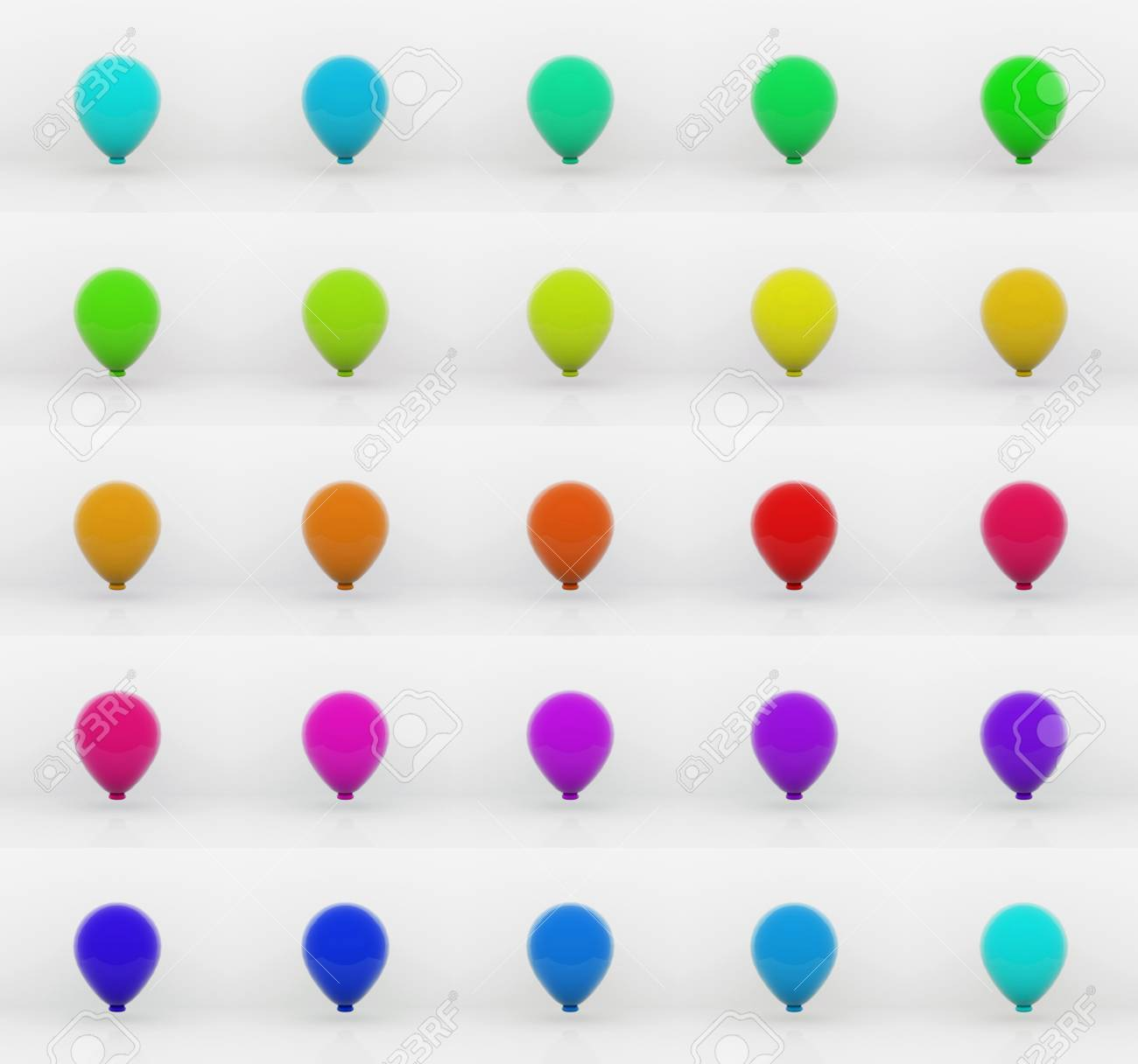 Balloons - 3D Stock Photo - 14126254