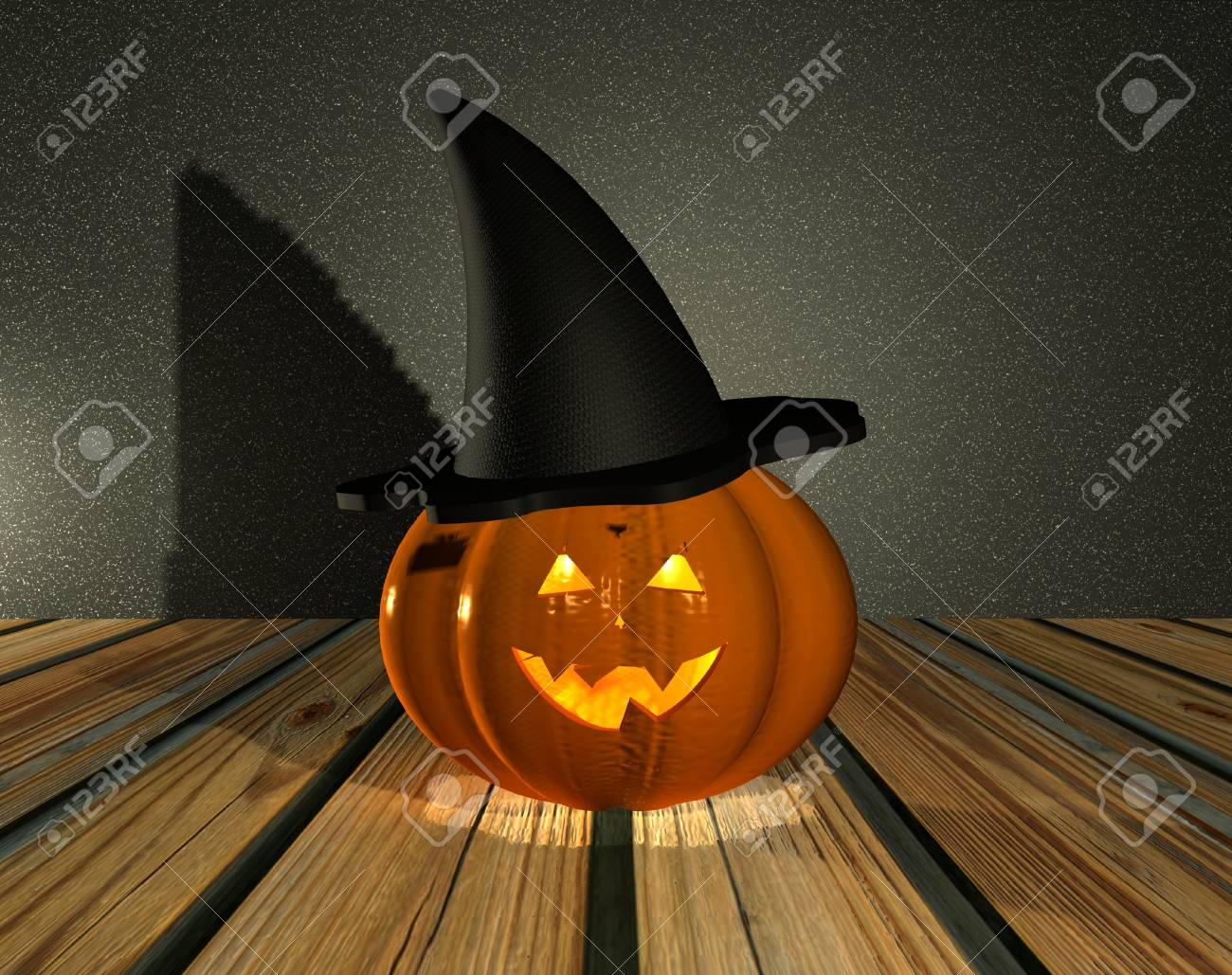 Halloween Pumpkin - 3D Stock Photo - 15148600