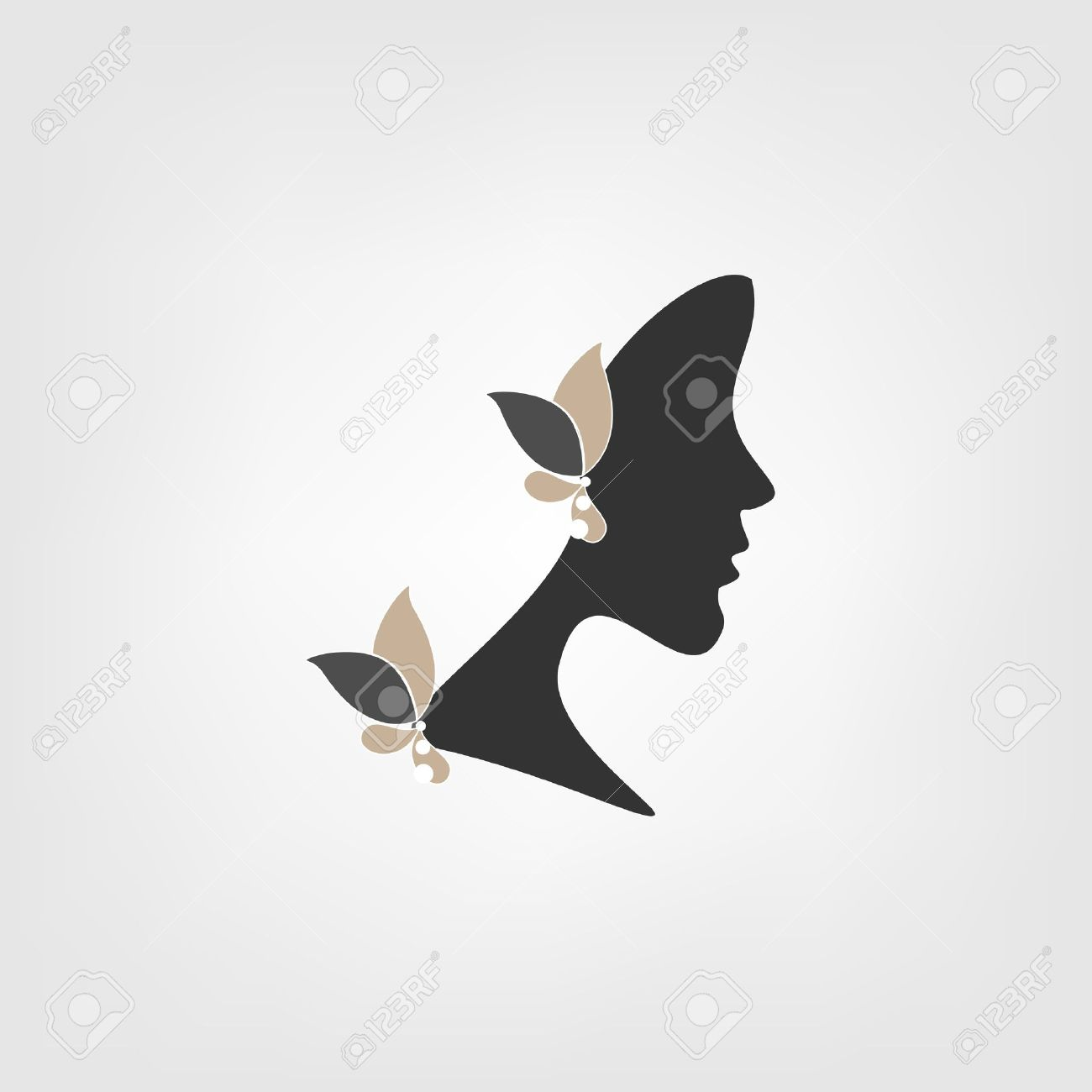 Logo Profile of Woman With
