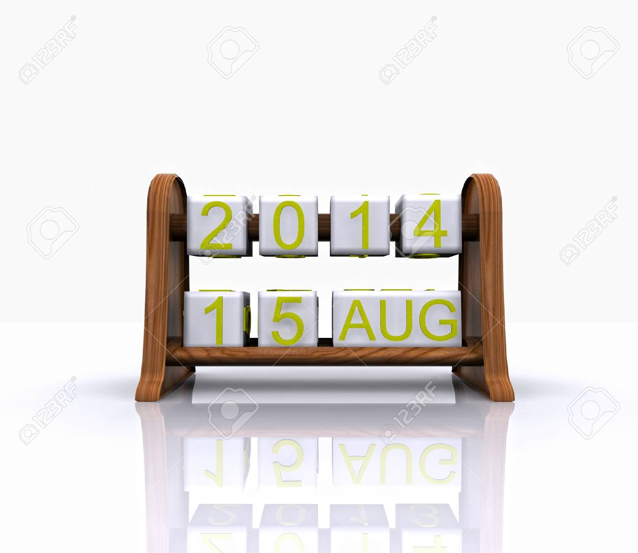 Date - August 15, 3D Stock Photo - 18463992