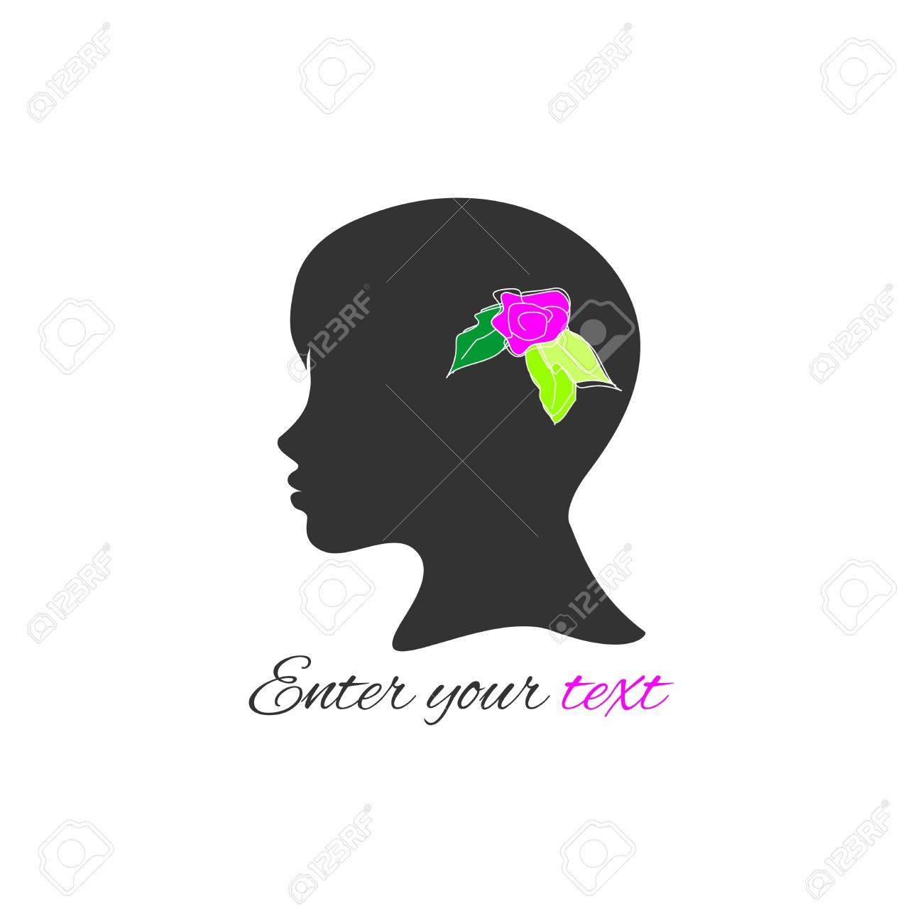 Woman Profile Logo Logo Profile of Woman
