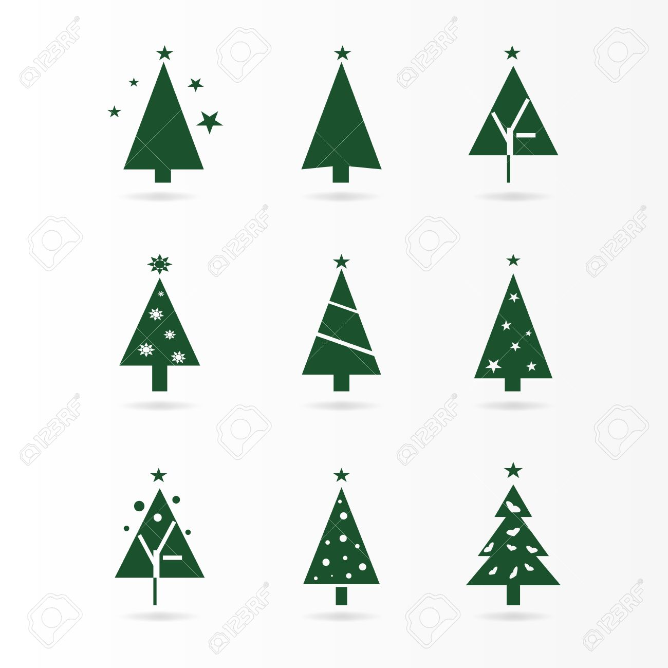 Weihnachtsbaum Design.Stock Photo