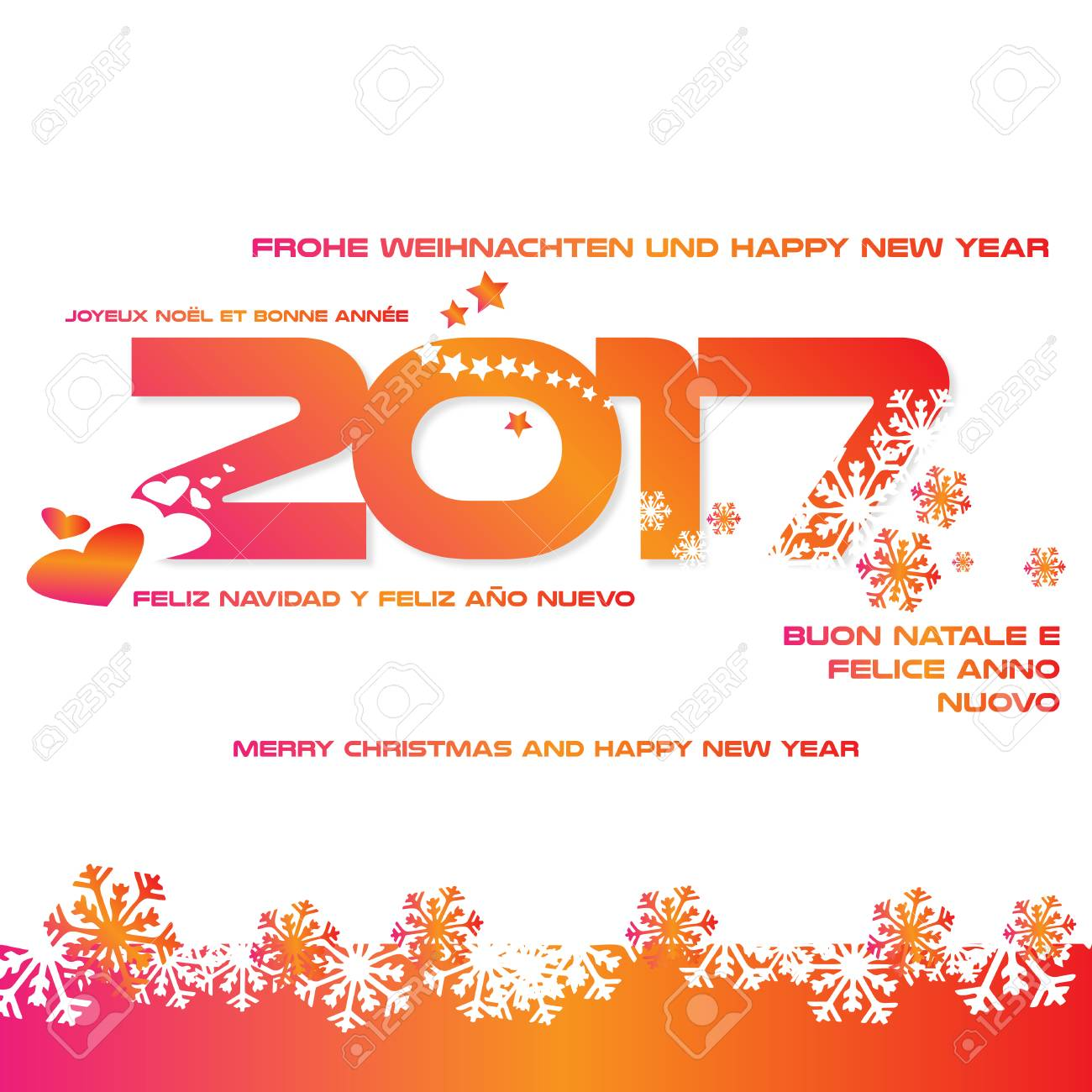 Background 2017 With Greetings In Different Languages Royalty Free