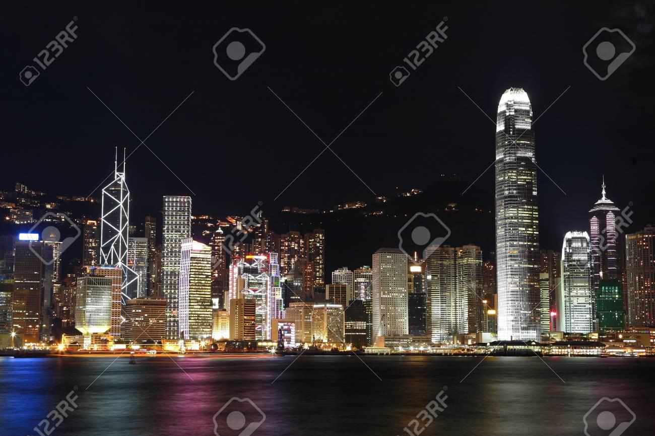 Hong Kong at night Stock Photo - 7603748