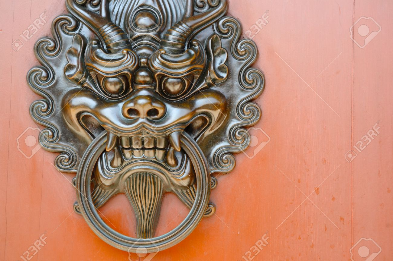 Lion Door Knob Stock Photo, Picture And Royalty Free Image. Image ...