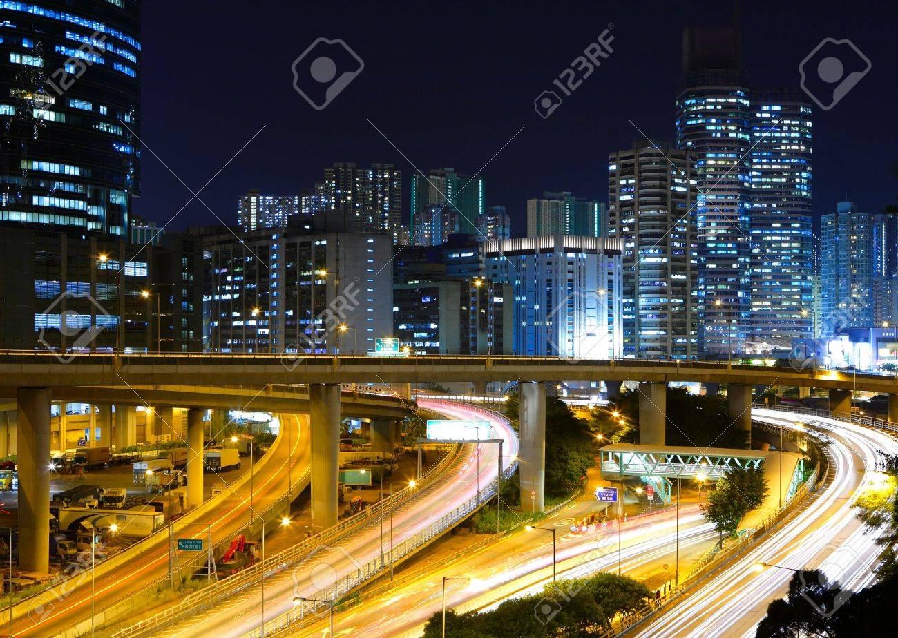 modern city at night Stock Photo - 8521665