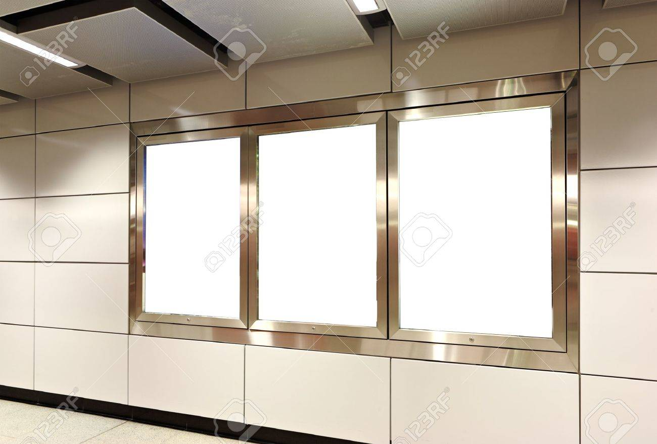 Blank billboard in metro station Stock Photo - 8542865