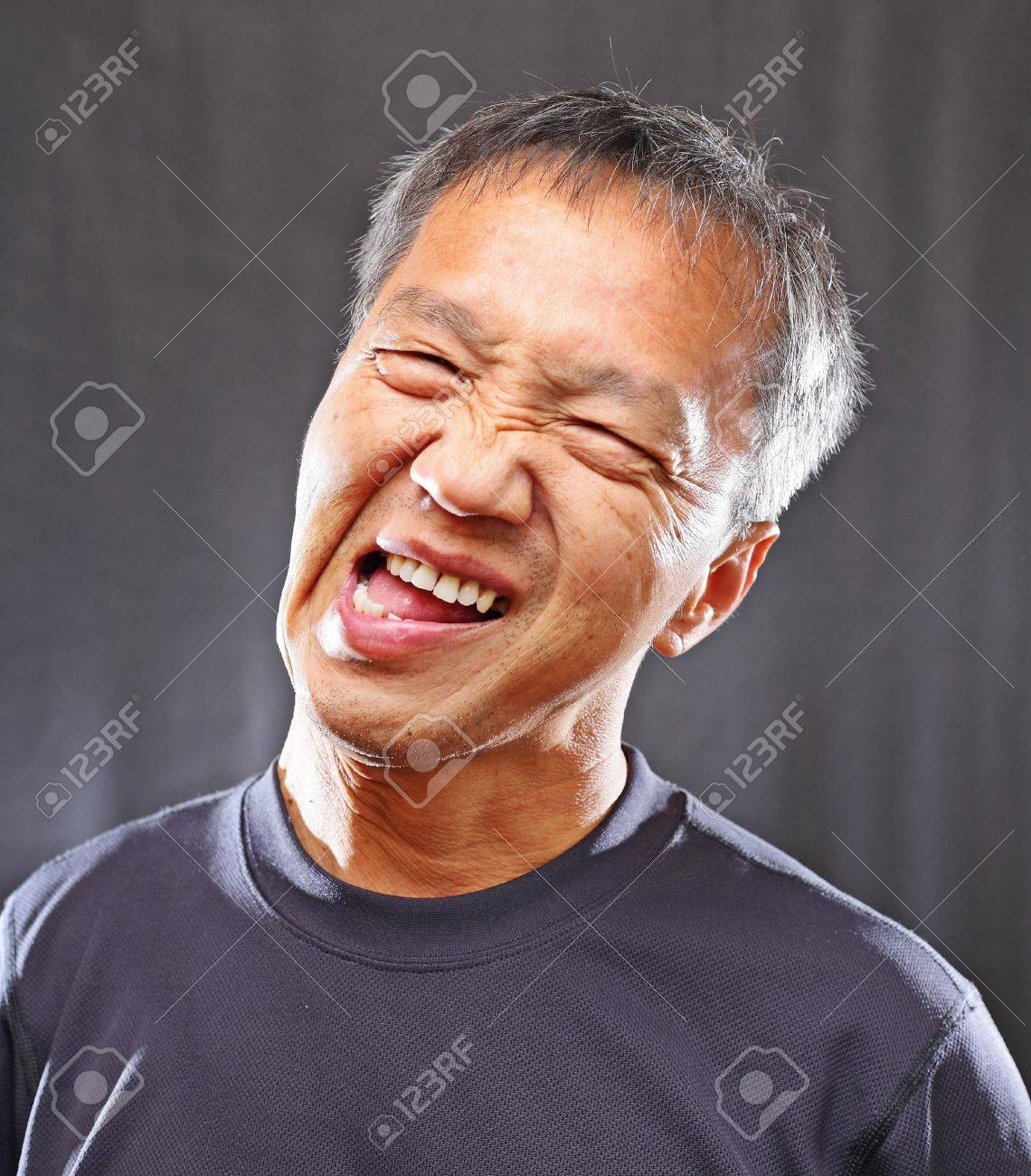 Mature Chinese Man With Funny Face Stock Photo Picture And Royalty Free Image Image 9996309