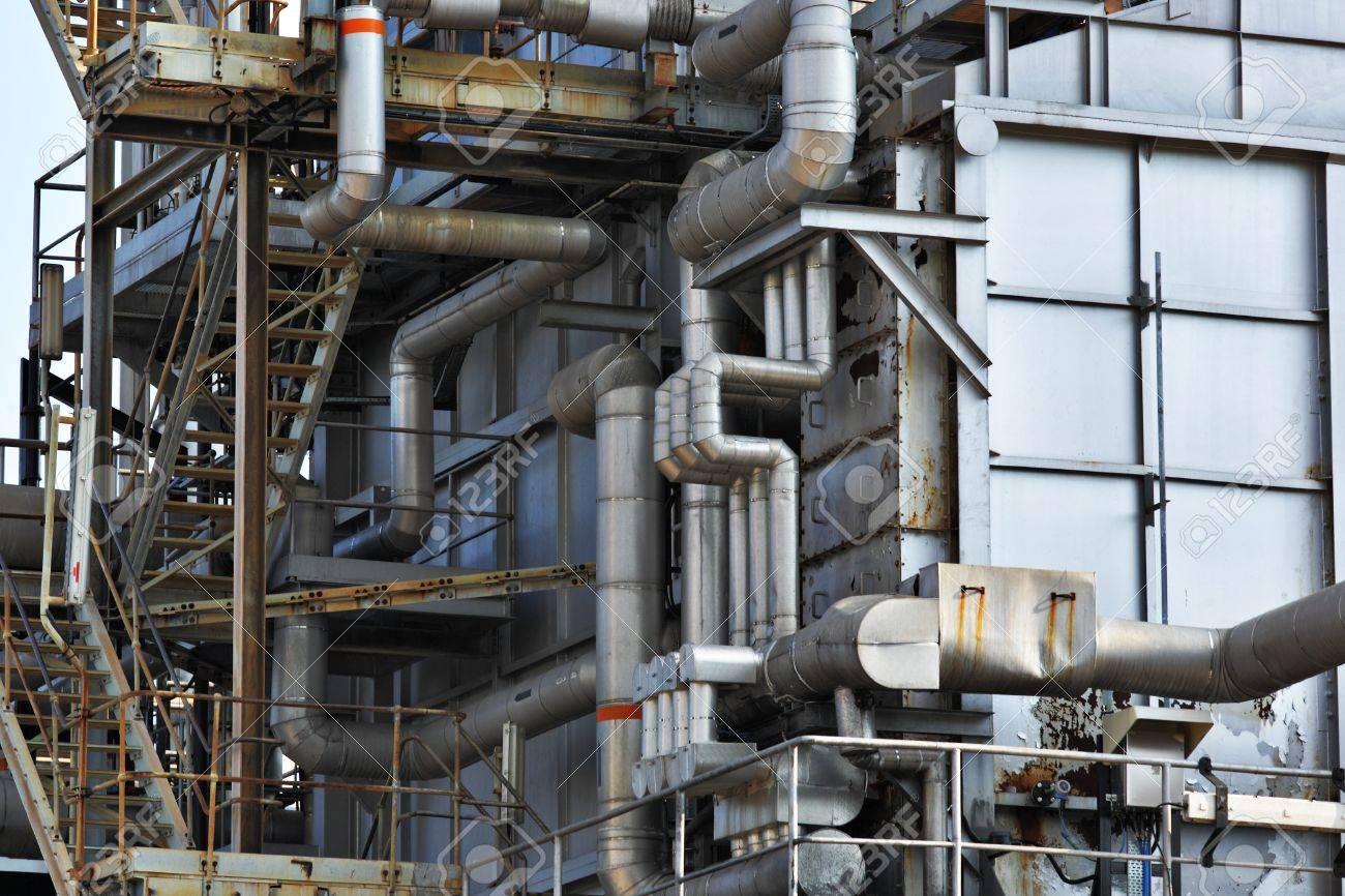 Industrial building, Steel pipe Stock Photo - 13605219