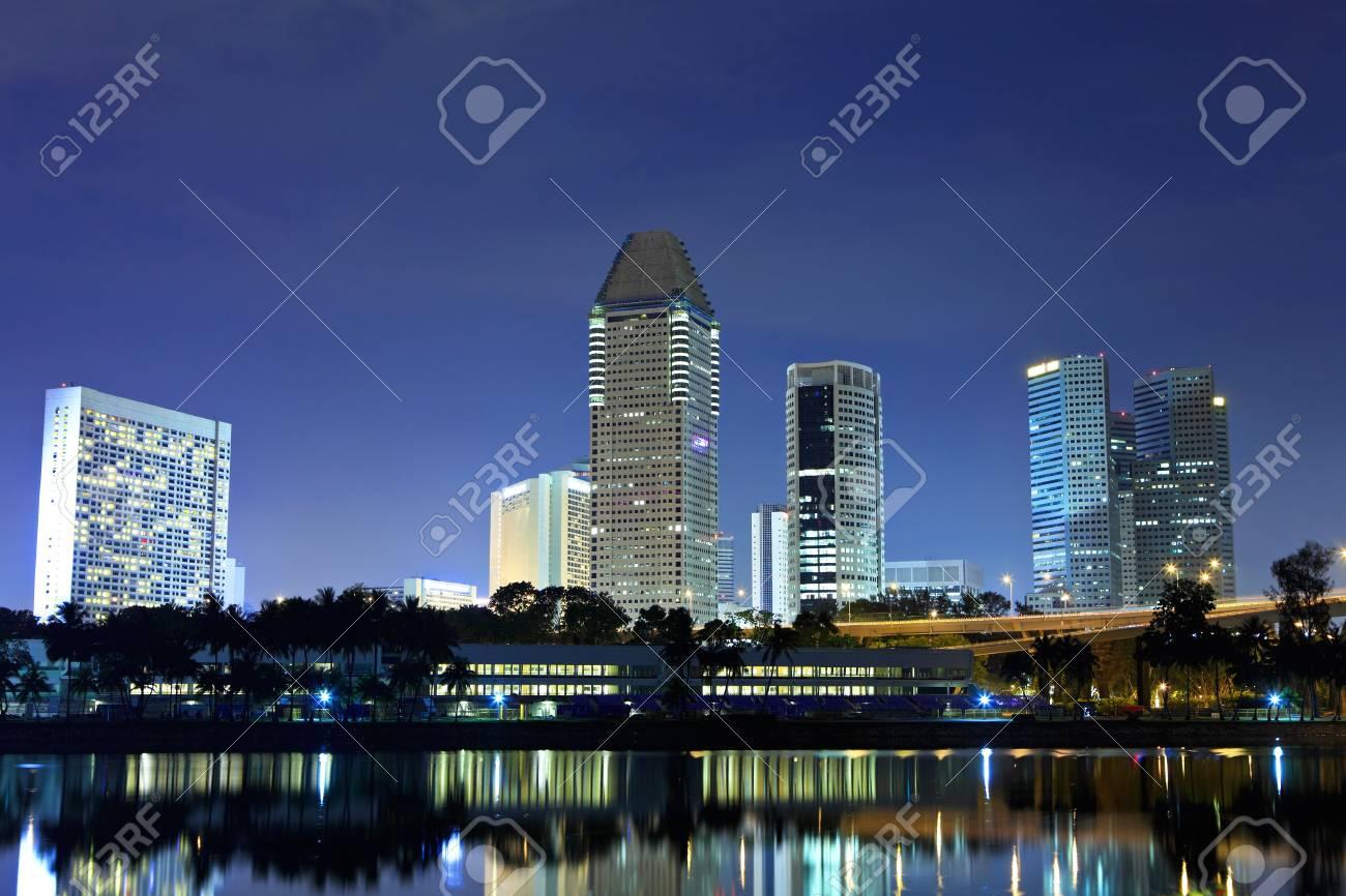 Singapore by night Stock Photo - 15494753