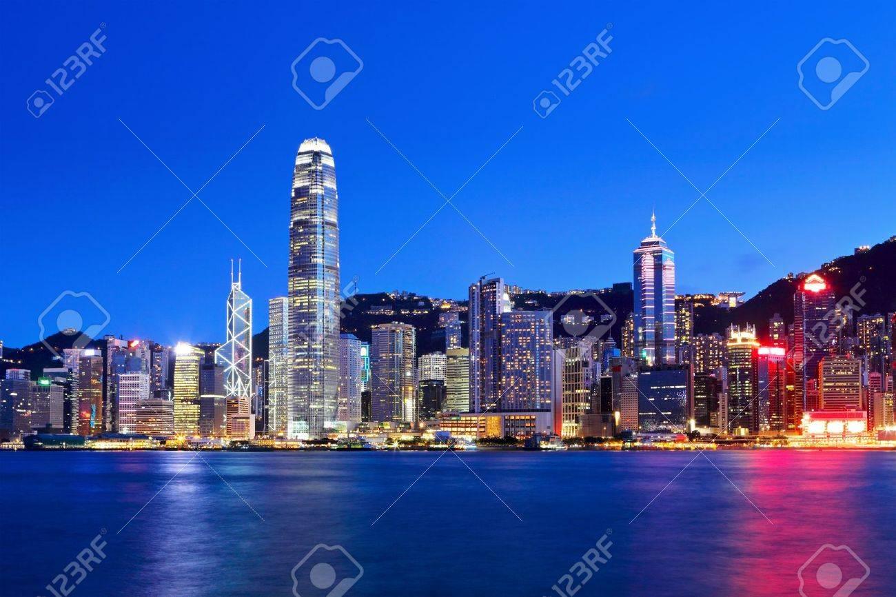 Hong Kong at night - 15638743