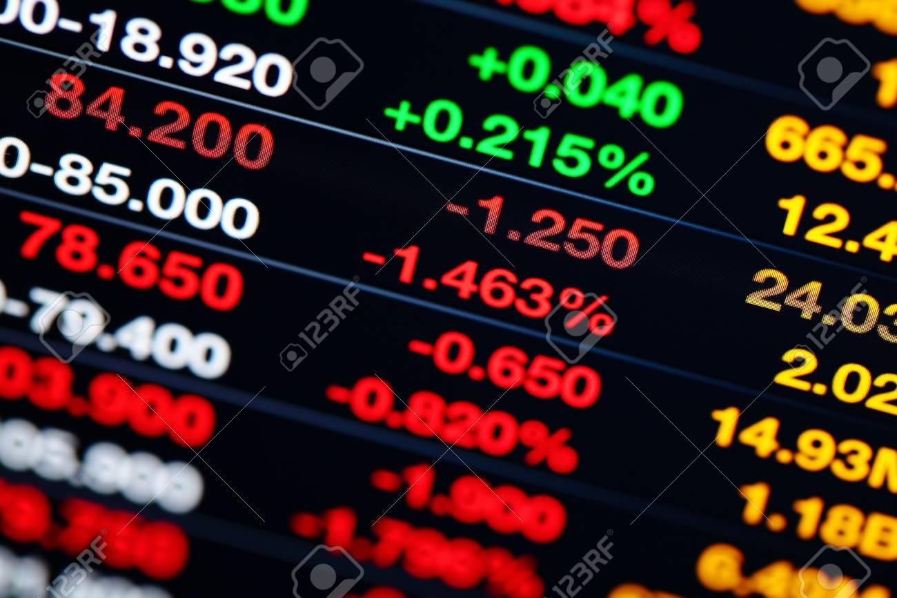 Stock market on display Stock Photo - 20278208