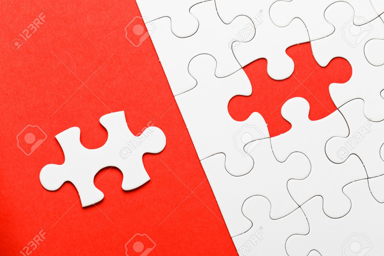Incomplete Puzzle With Missing Piece Stock Photo