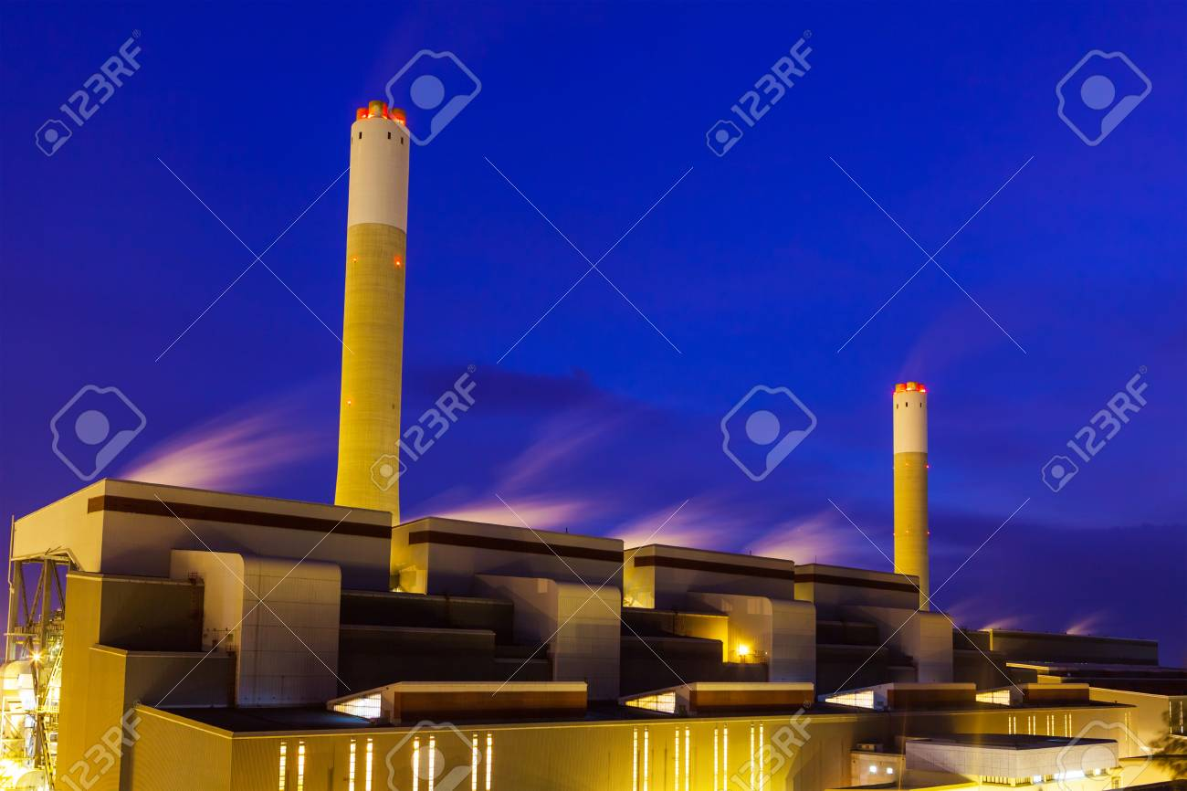 Industrial plant at night Stock Photo - 23525253