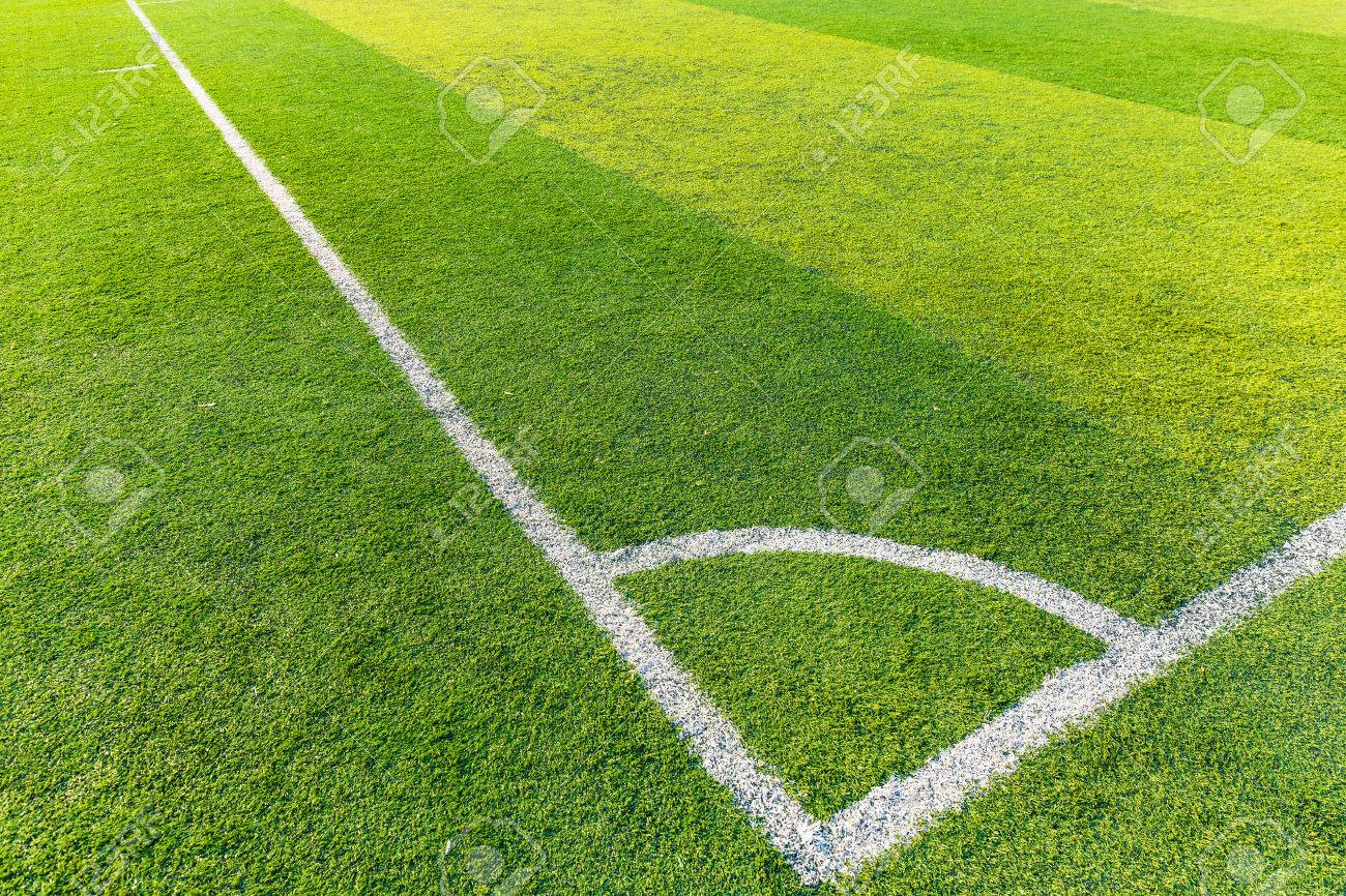 Corner of a synthetic football field Stock Photo - 24592939