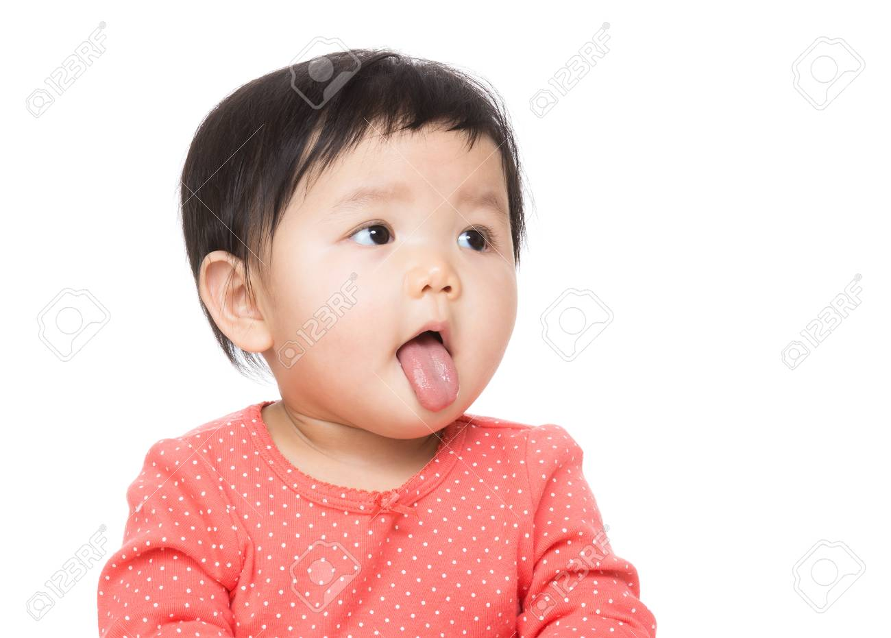 3978730eb Asian baby girl making funny face