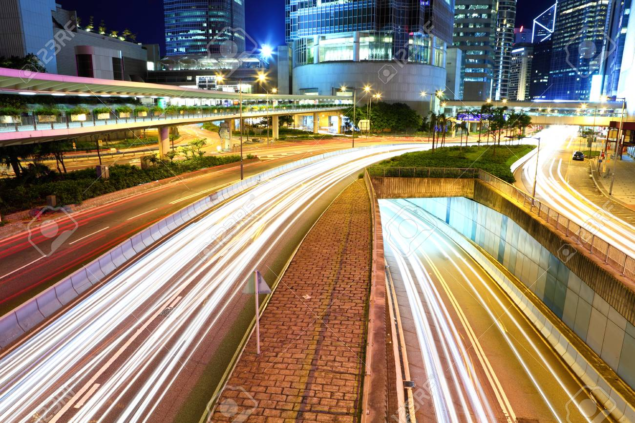 Busy traffic in Hong Kong Stock Photo - 26171925