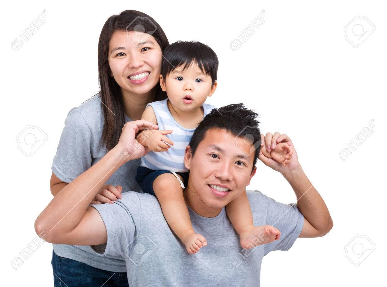 Happy asian family with baby son stock photo 28915967