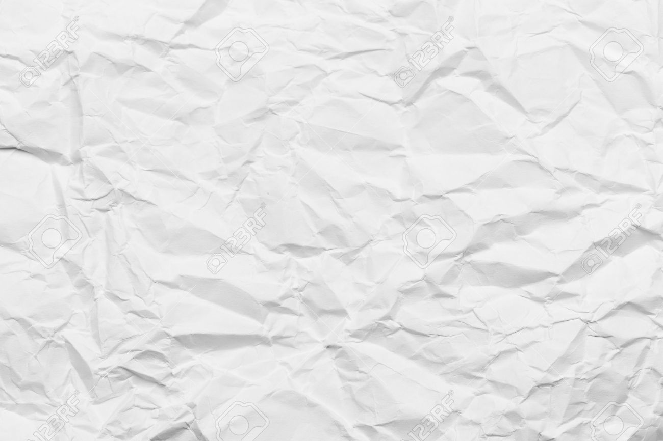 wrinkled paper white background texture stock photo, picture and