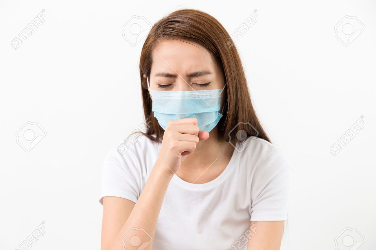 Woman Mask With Asian Cough Protective Face