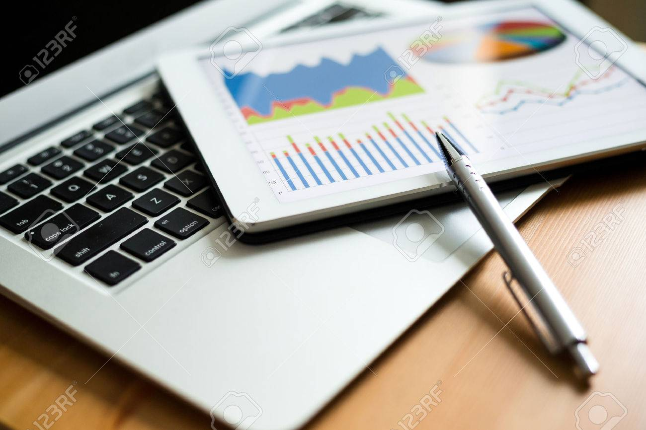 Business analytic with tablet pc and laptop computer - 54836034