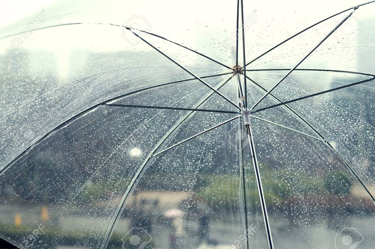 transparent umbrella in rainy day stock photo picture and royalty