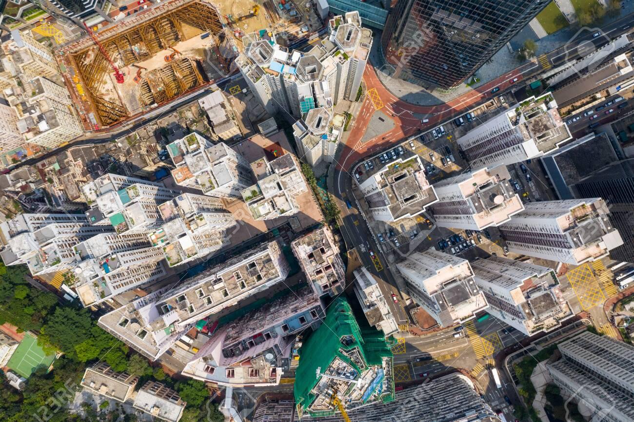 Top down view of Hong Kong city - 120124527