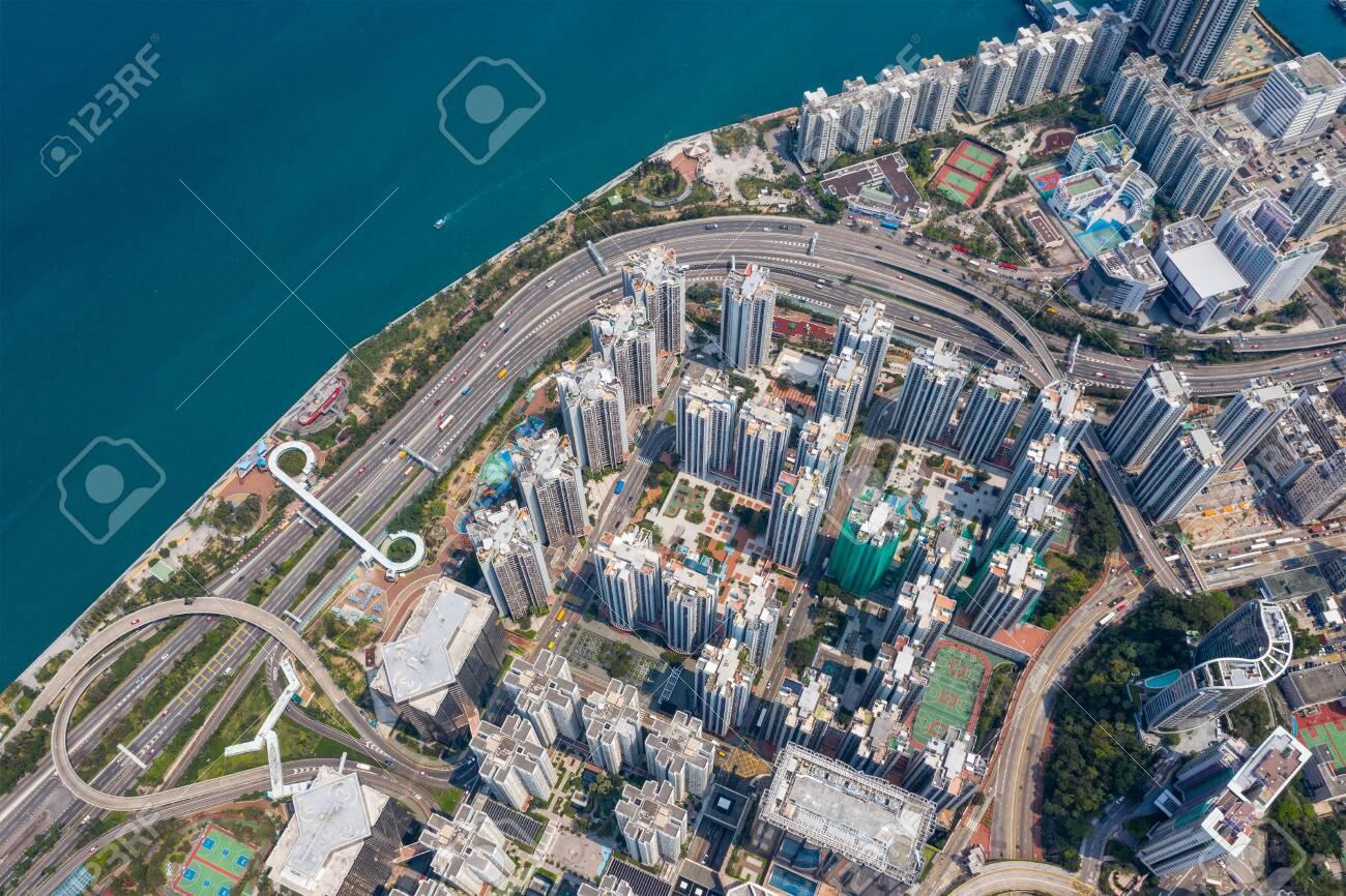 Top view of Hong Kong city - 120314725