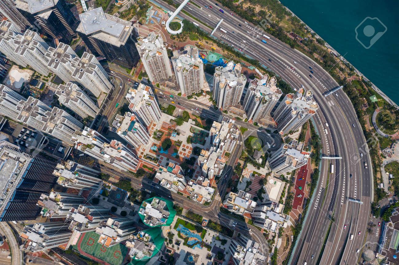 Hong Kong city from top - 120326015