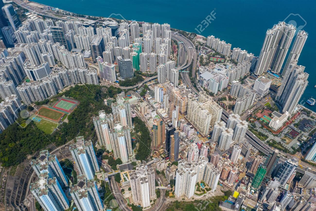 Top down view of Hong Kong city - 120325201