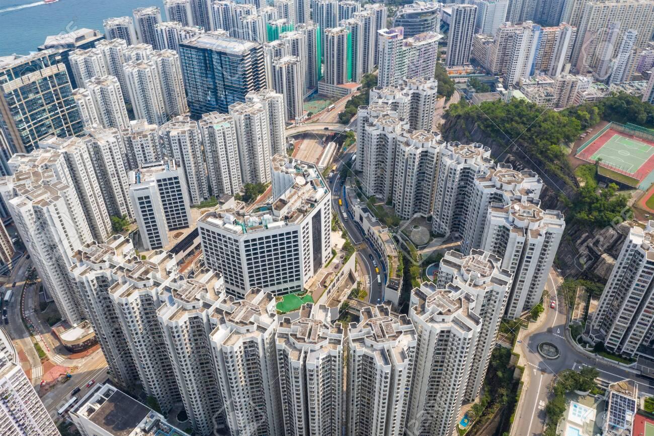 Top down view of Hong Kong city - 120245284