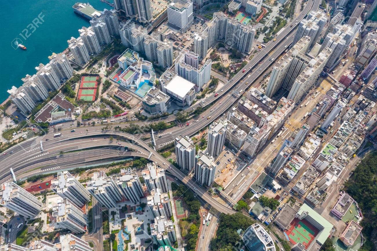 Hong Kong city from top - 120332441