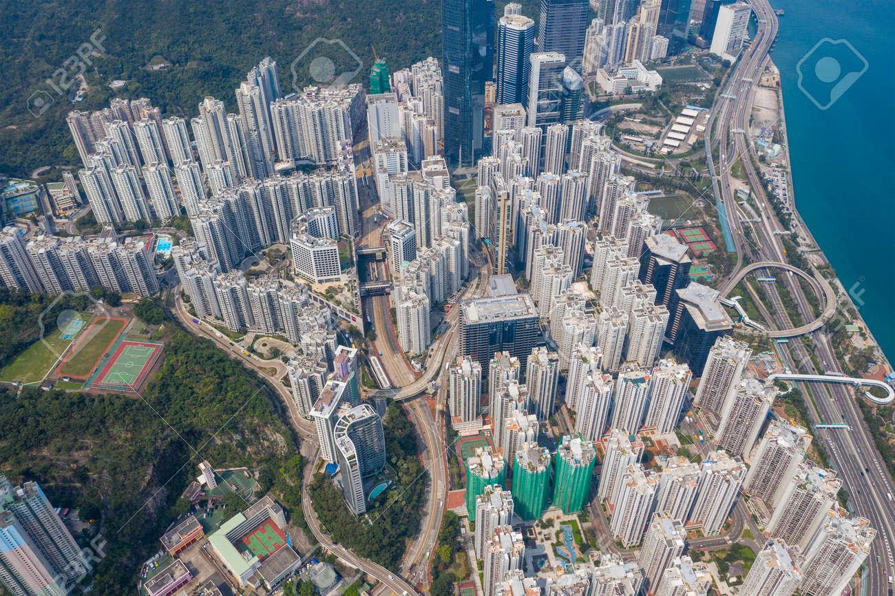 Top down view of Hong Kong city - 120338314