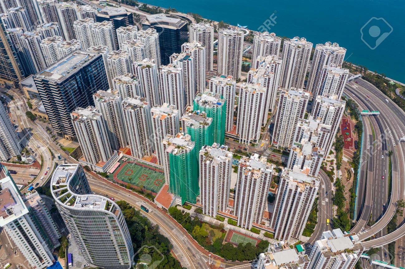 Top down view of Hong Kong city - 120464654