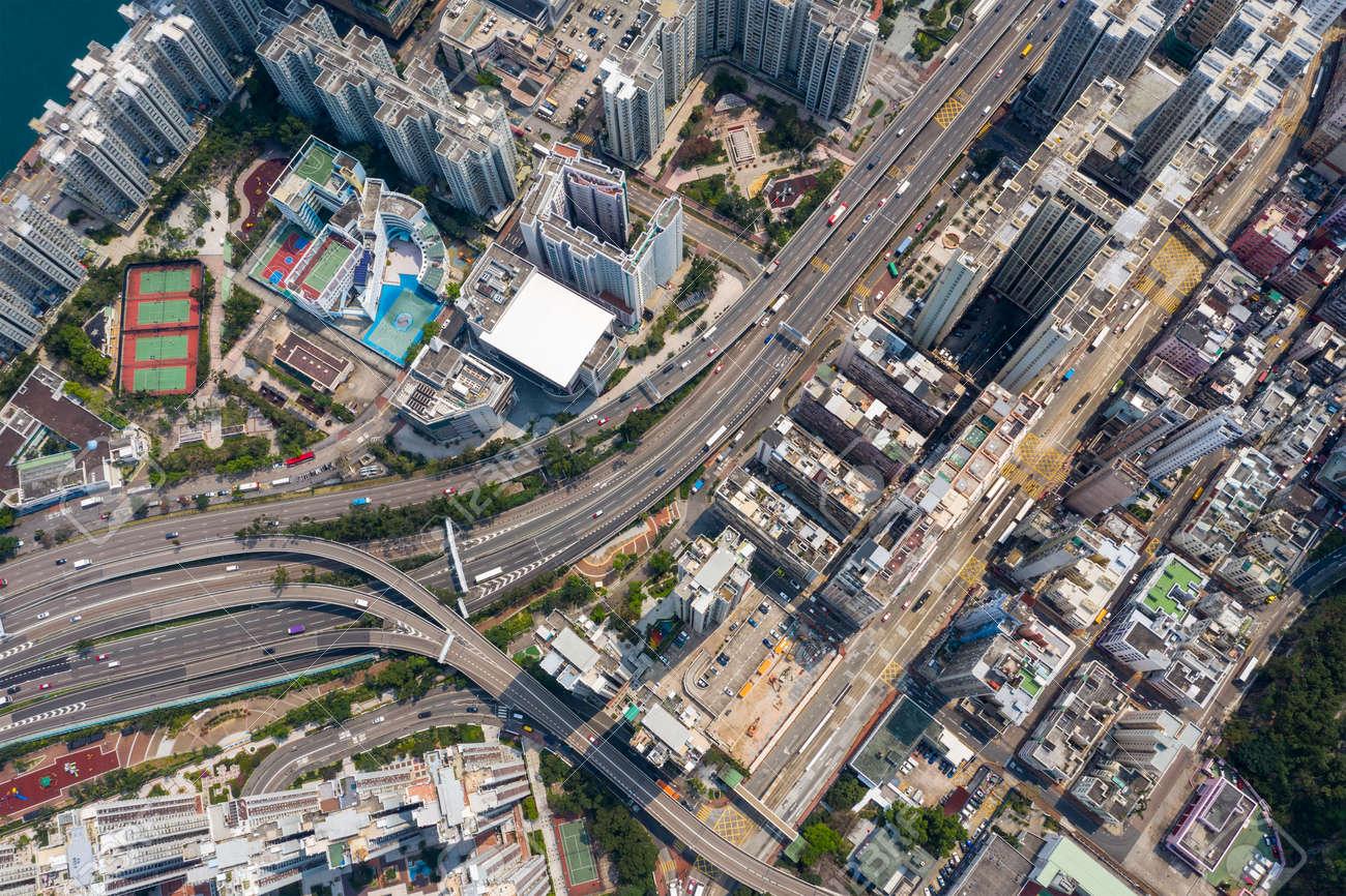 Aerial view of Hong Kong city - 120470454