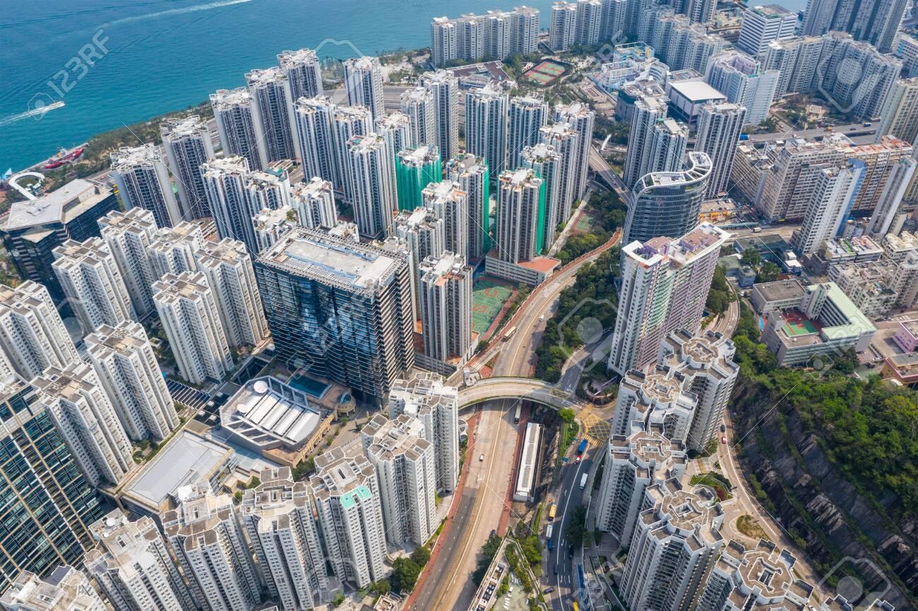 Hong Kong city from top - 120629755
