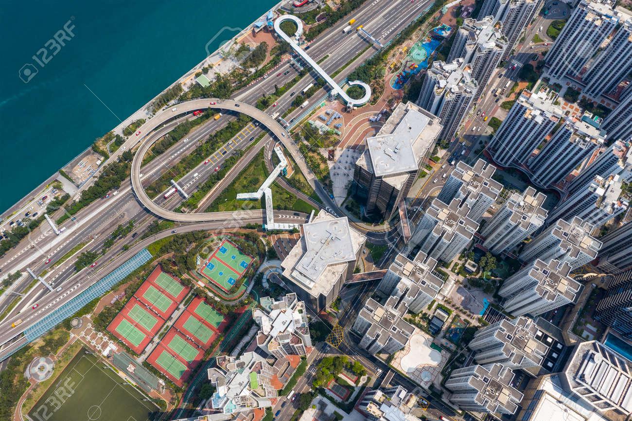 Aerial view of Hong Kong city - 120627462