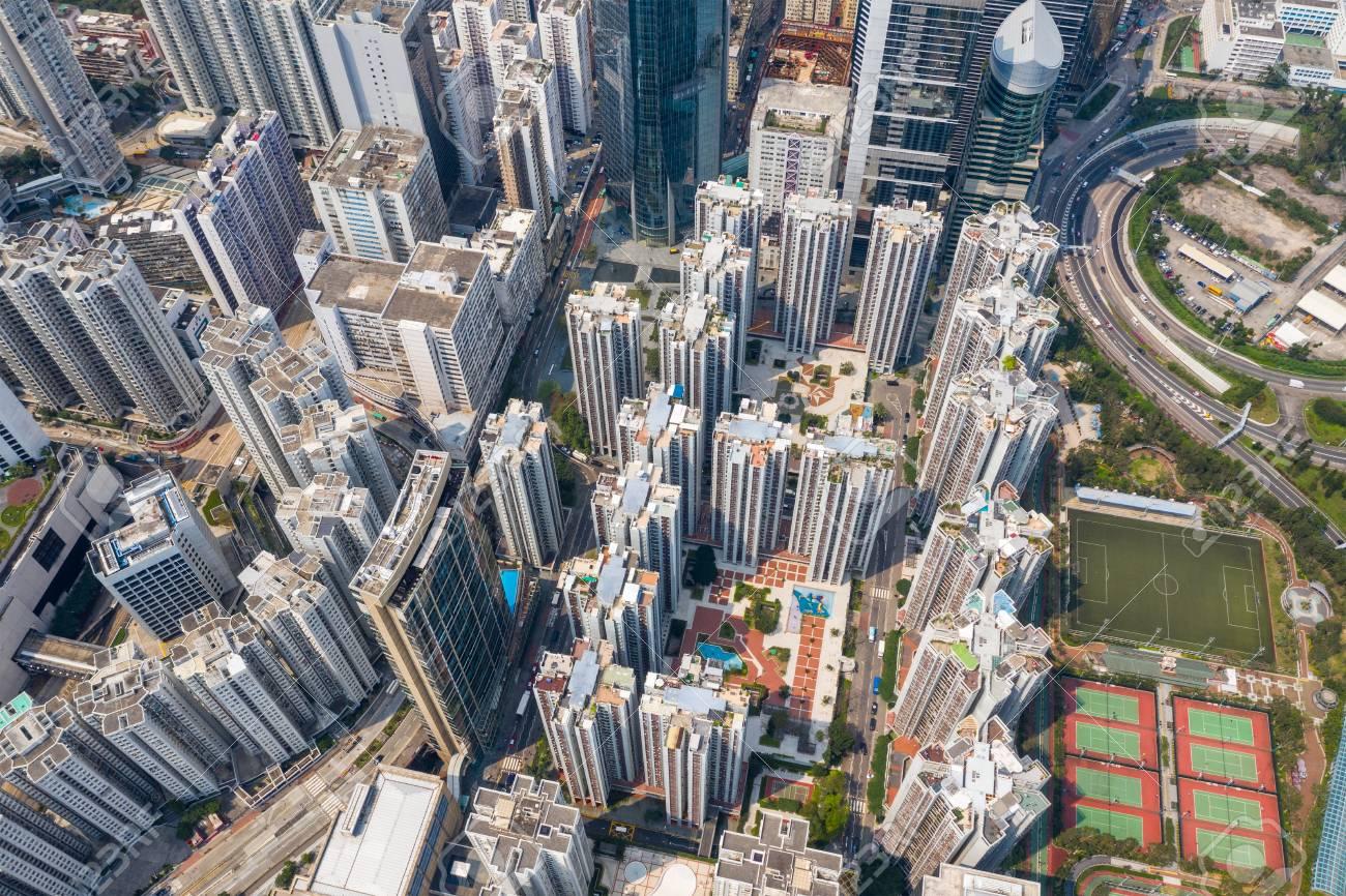 Top view of Hong Kong city - 122761086