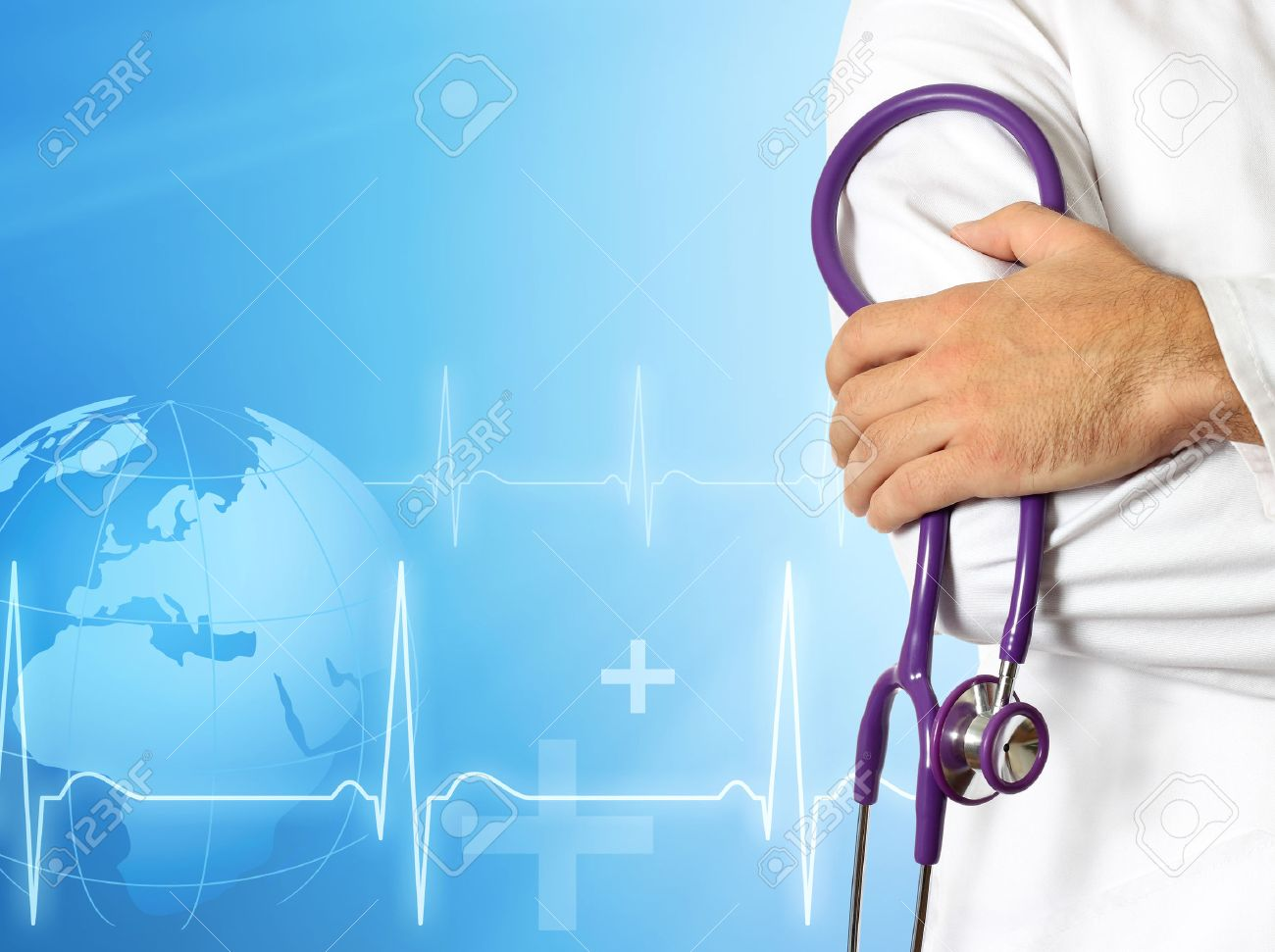 Doctor with medical background - 41664052
