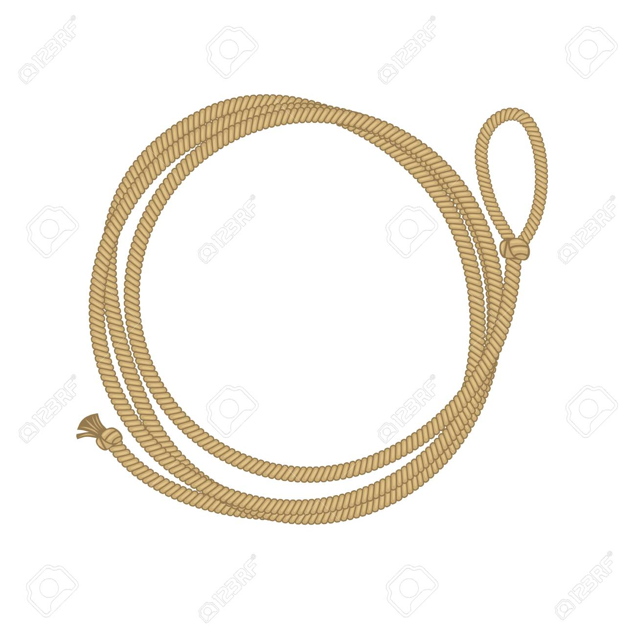 lasso circle frame. cowboy rope vector illustration with place.. royalty  free cliparts, vectors, and stock illustration. image 105593488.  123rf