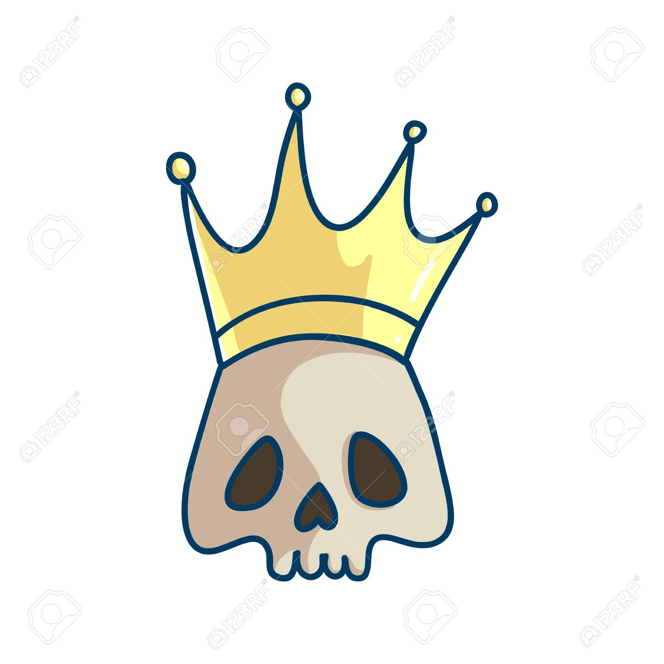 King Of The Death Skull With Crown Temporary Tattoo Template Royalty Free Cliparts Vectors And Stock Illustration Image 106587803 Gray metal chain illustration, chain openoffice draw, cartoon silver chains to pull the material free, cartoon character, free logo design template, cartoons png. king of the death skull with crown temporary tattoo template