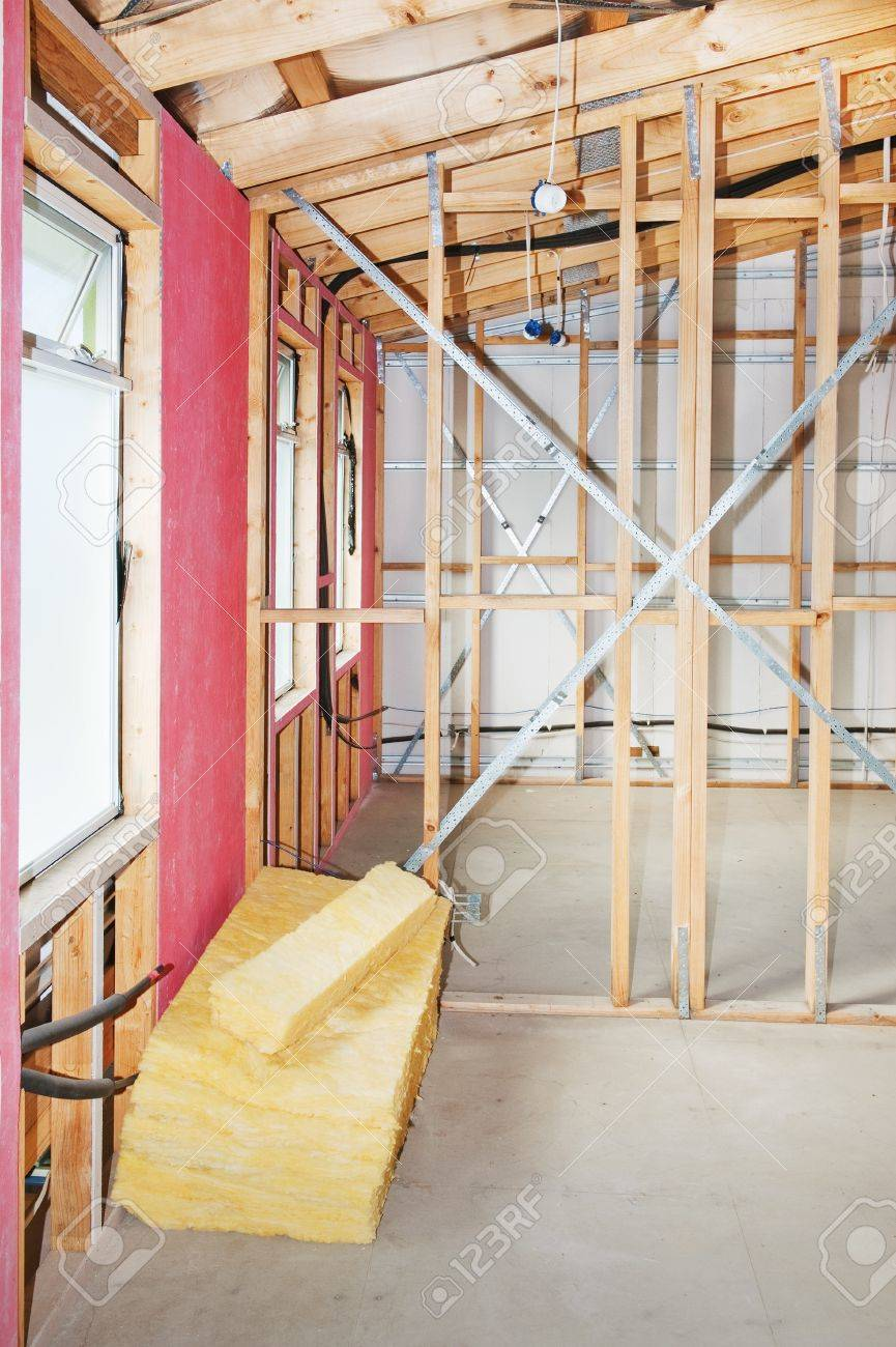 Interior view construction new residential home Stock Photo - 18154004